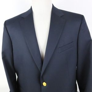 Brooks Brother 46R MADISON 2 Gold Button Blazer